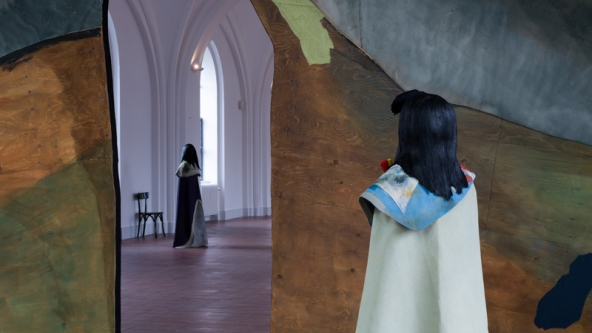 "TRUST- The Temple: We Are The Painters: ""Study for Costume"", 2015. Installationsview. Foto: Torben Eskerod"