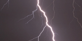 http://commons.wikimedia.org/wiki/Lightning#mediaviewer/File:Lightning_in_Zdolbuniv.jpg