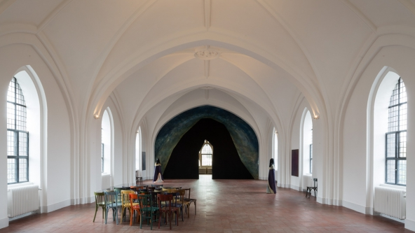 "TRUST- The Temple: We Are The Painters: ""Treshold of Apparition"", 2015. Installationsview. Foto: Torben Eskerod"